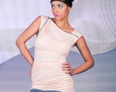 SALE 30% OFF Nude Asymmetrical Tunic