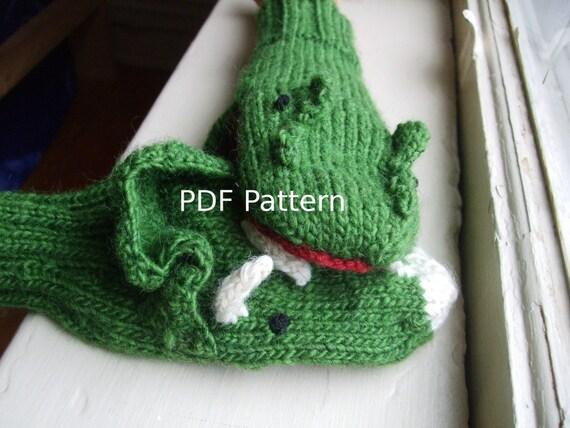 Dinosaur Gloves Knitting Pattern : Items similar to PDF Knitting Pattern - Dinosaur Mittens on Etsy