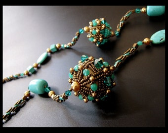 Turquoise Galaxy - OOAK Necklace