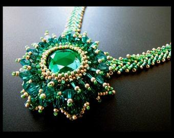 Emerald Queen - OOAK Necklace - SALE 25% OFF