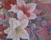 Vintage Pink Floral Fabric over 4 YDS