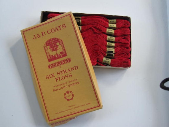 Vintage J and P Coats Six Strand Embroidery Floss