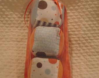 Orange Polka Dot Fabric Blocks
