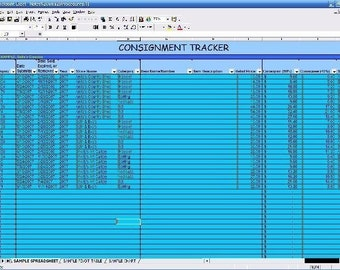 CONSIGNMENT TRACKER -- Excel