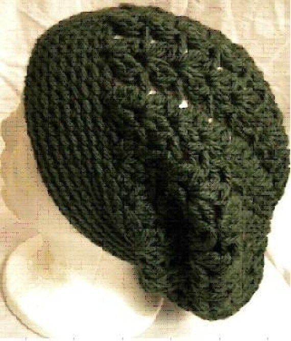 GALWAY SLOUCHY BERET Lacy Crochet PATTERN