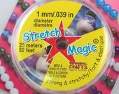 Stretch Magic Clear Bead Cord 1mm width 25 meters 42321
