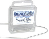 Silver Color French Wire - Medium .9 14 In 42573