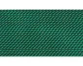 2 Card - Size 4 GREEN Griffin Silk Cord Thread With Needle 42235