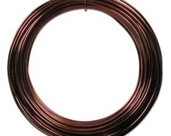 Anodized Aluminum Craft Wire 12 Gauge 39 Feet BROWN 42604