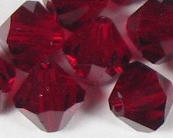 Swarovski Elements Crystal Bicone 5301 4mm GARNET Beads (48) 522016