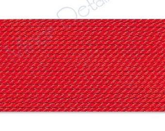 Griffin Silk Cord Thread Size 2 - RED with Needle (2) 42205