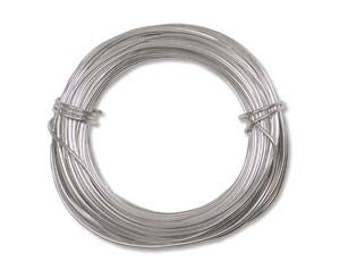 Anodized Aluminum Craft Wire 18 Gauge 39 Feet  SILVER color 42628