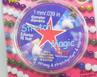 1mm width 5 meters Stretch Magic Clear Bead Cord 42329