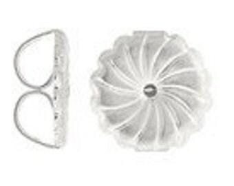 12 Ear Nut PREMIUM Sterling Silver Earring Backs 38018