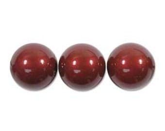 Swarovski Elements Crystal 5810 4mm BORDEAUX Pearl Beads (100) 572029