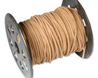 10 Feet Light Brown Faux Leather Suede Necklace Cord Ultra Microfiber 42785