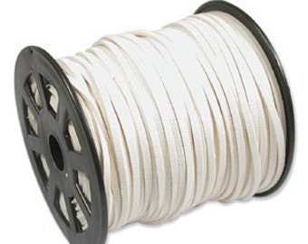 IVORY Faux Leather Suede Necklace Cord 10 Feet Ultra Microfiber 42796