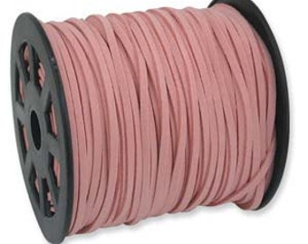3 x 1mm Ultra Microfiber Faux Leather Suede Necklace Cord PINK 10 Feet 42803