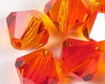 Swarovski Elements Crystal Bicone 5301 6mm FIRE OPAL Beads (20) 524012