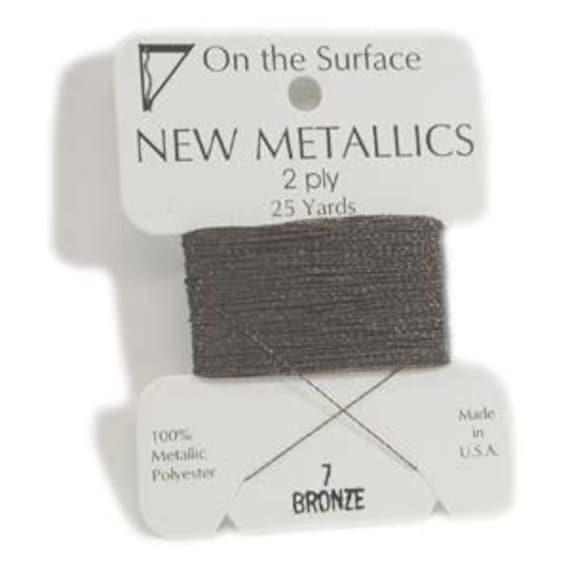 On The Surface Metallic Embellishment Thread 25 Yards BRONZE 420099