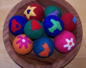 RESERVED for SOLANATURA - 2 Felted Balls