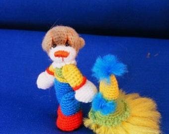 Mini Teddy Bear Clown Pattern  by Thread Artist Chantal Bears