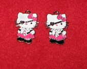 bright pink hello kitty pirate charm set