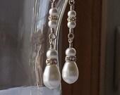 Golden Drops. Swarovski Teardrop Pearl Earrings. 14k Gold Filled. Bridal.
