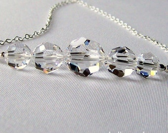 Luminous. Swarovski Crystal and Sterling Silver Necklace.