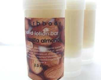 Vanilla Almond Solid Lotion Bar
