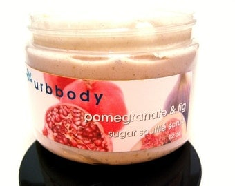POMEGRANATE and FIG Creamy Sugar Scrub - SALE