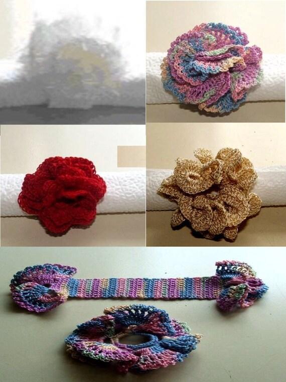 Crochet Pattern-Floral Napkin Rings