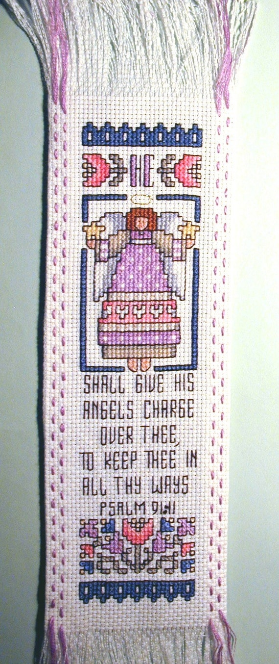 Psalm 91 Bookmark in Cross Stitch