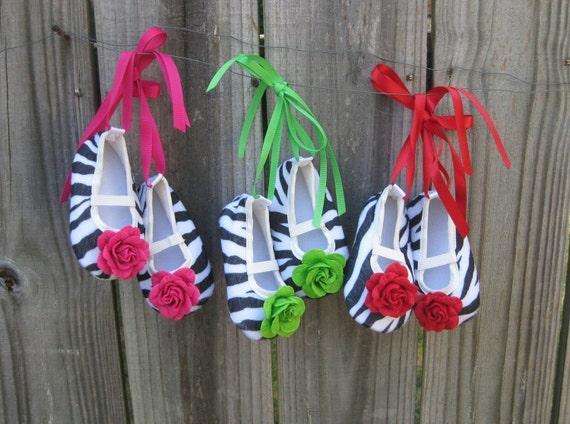 Luna Bella Zebra Ballet Slippers, Infant/Toddler size