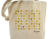 Bee Green Grocery Tote Bag