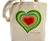 LOVE ROCKS Wedding Gifts for the Bridal Party Bridesmaids Gift Tote Bags
