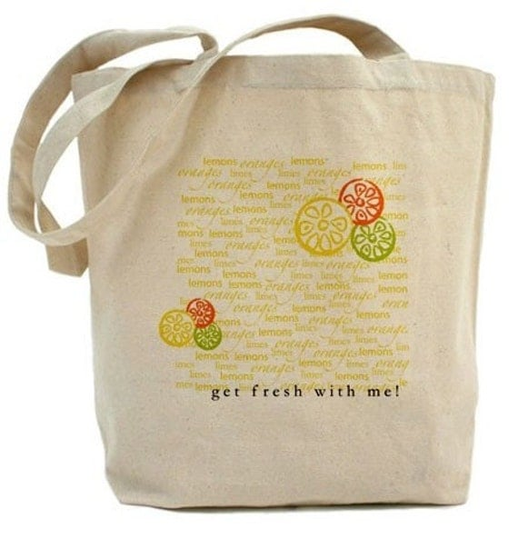 Get Fresh With Me Citrus Reusable Grocery Tote Bag