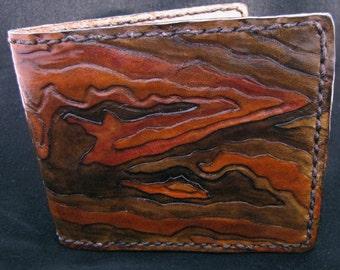 Leather Wallet - TOPO MOUNTAIN MAP