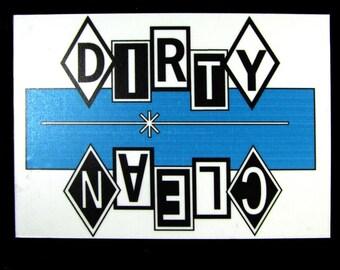 Magnet- Dirty Dishes Dishwasher Magnet  (Blue,Black,White)