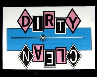 Magnet- Dirty Dishes Dishwasher Magnet  (Blue,Pink,Black)