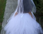 PRINCESS BRIDE TUTU DRESS WITH MATCHING VEIL AND WAND
