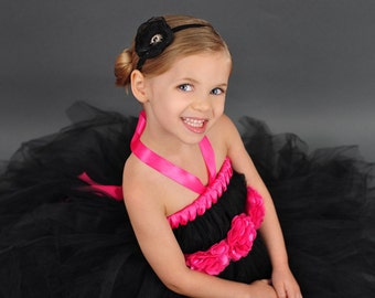 Tutu dress with matching flower sash YOU pick the COLOR/COLORS