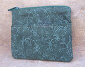 SALE - Green Leaves and Vines Coin Purse or Wallet