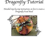 Kerribeads Tutorial Lampwork Dragonfly Focal Bead - Instant Download PDF File