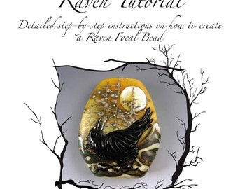 Kerribeads Tutorial Lampwork Raven / Landscape Focal Bead - Instant Download PDF file