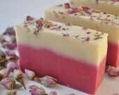 Rose Soap - Handmade Cold Process Shea Butter Soap - Mothers Day Gift - Gift For Mom