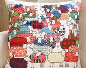 Colourful Sheep Cushion - Large