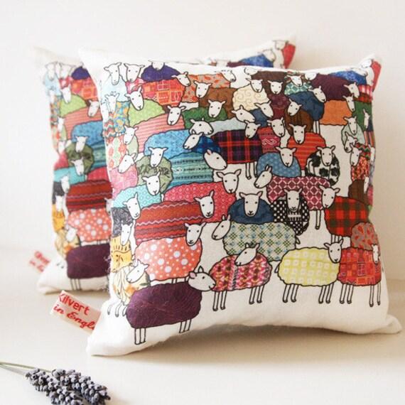 New Colourful Sheep - Lavender Cushion