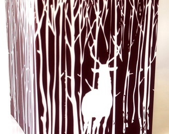 Deer in the Forest - card set of 8