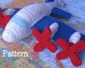 PDF Pattern - P3 Crochet Airplane